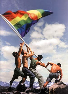 raising gay flag