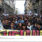 sciopero sociale -  Mlano (fonte twitter.com)