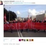 sciopero sociale - Genova (fonte Twitter.com)