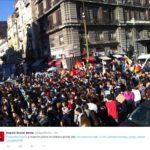 sciopero sociale - napoli (fonte: Twitter.com)