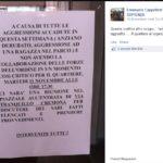 Il volantino che invitava i residenti di Tor Sapienza a scendere in piazza per manifestare contro il degrado del quartiere (Fonte: Facebook.com)