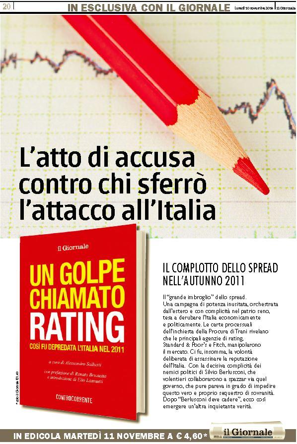 La pubblicità del libro di Renato Brunetta (Il Giornale, 10 novembre 2014)