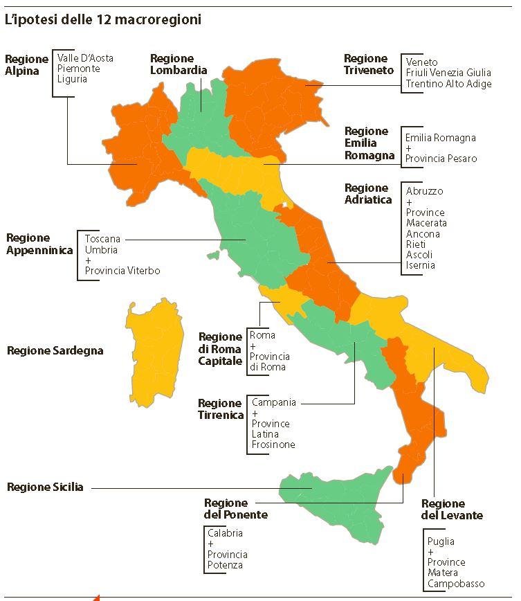 12 regioni italia