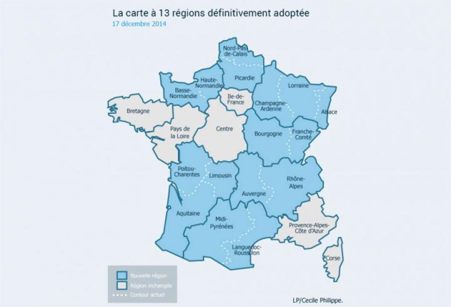 francia tredici regioni