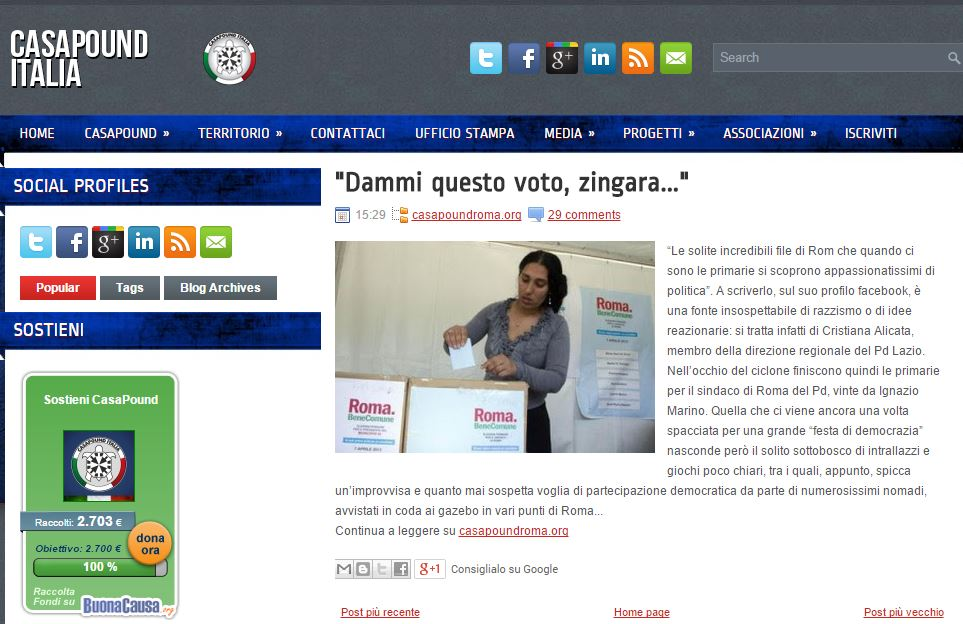 giornale zingara 1