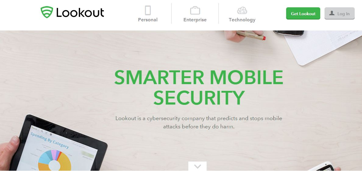 Lookout: software di blocco per smartphone