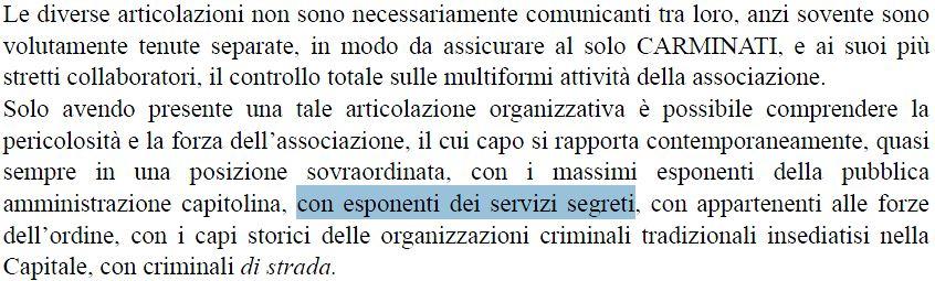 mafia capitale servizi segreti