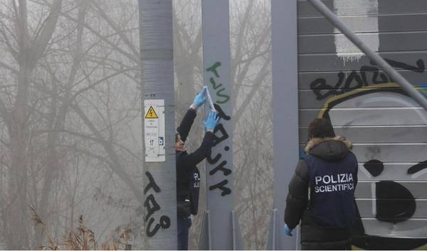 La foto delle scritte scambiate per una rivendicazione No TAV alla stazione di Santa Sofia
