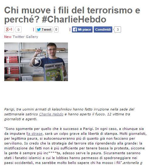 CHARLIE HEBDO BEPPE GRILLO
