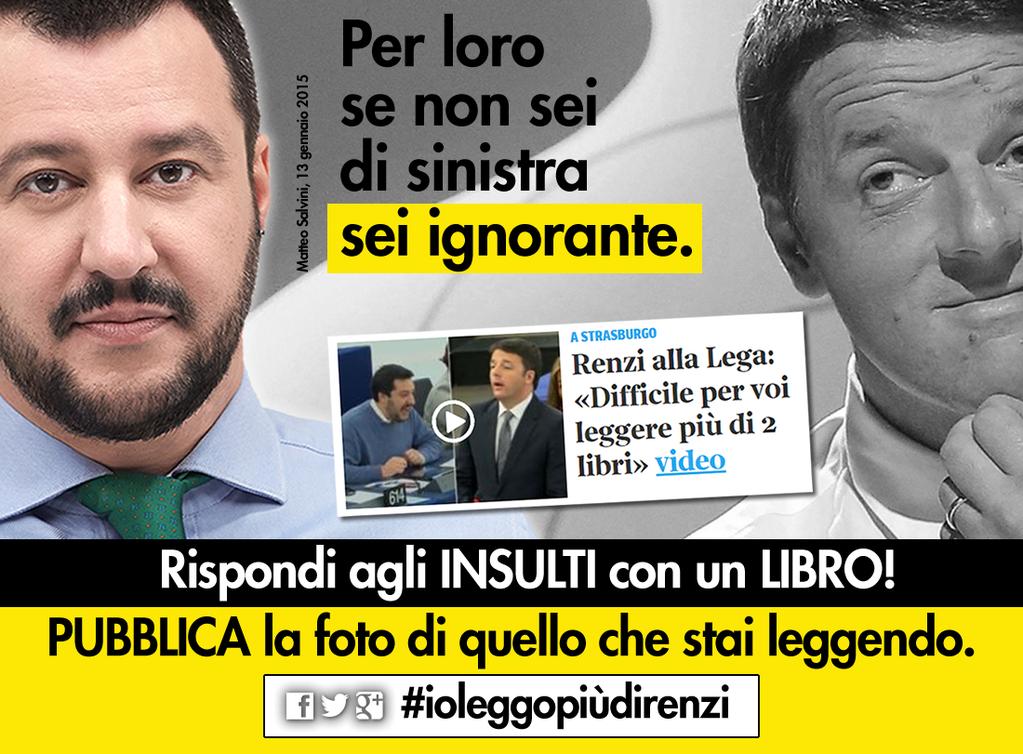 Matteo Salvini io leggo più