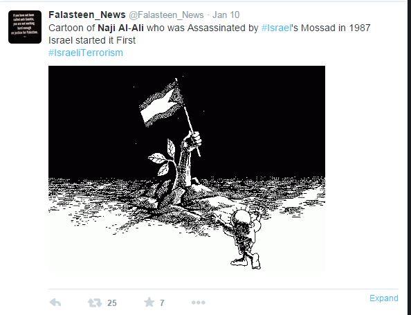 È sempre colpa di Israele!1 Mossad: uccidiamo fumettisti dal 1987 (fonte: Twitter.com)