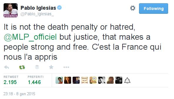 Pablo Iglesias _ Le Pen