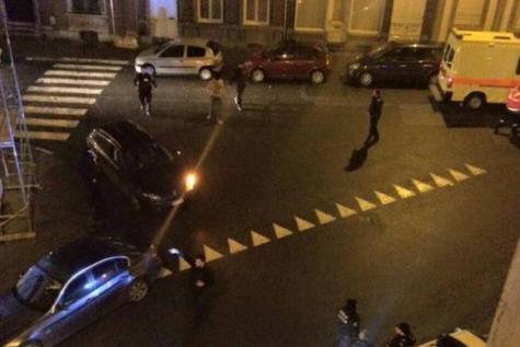 Una foto pubblicata da Le Soir sull'operazione di polizia a Bruxelles