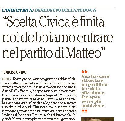 Intervista a Repubblica, 3 gennaio 2015)