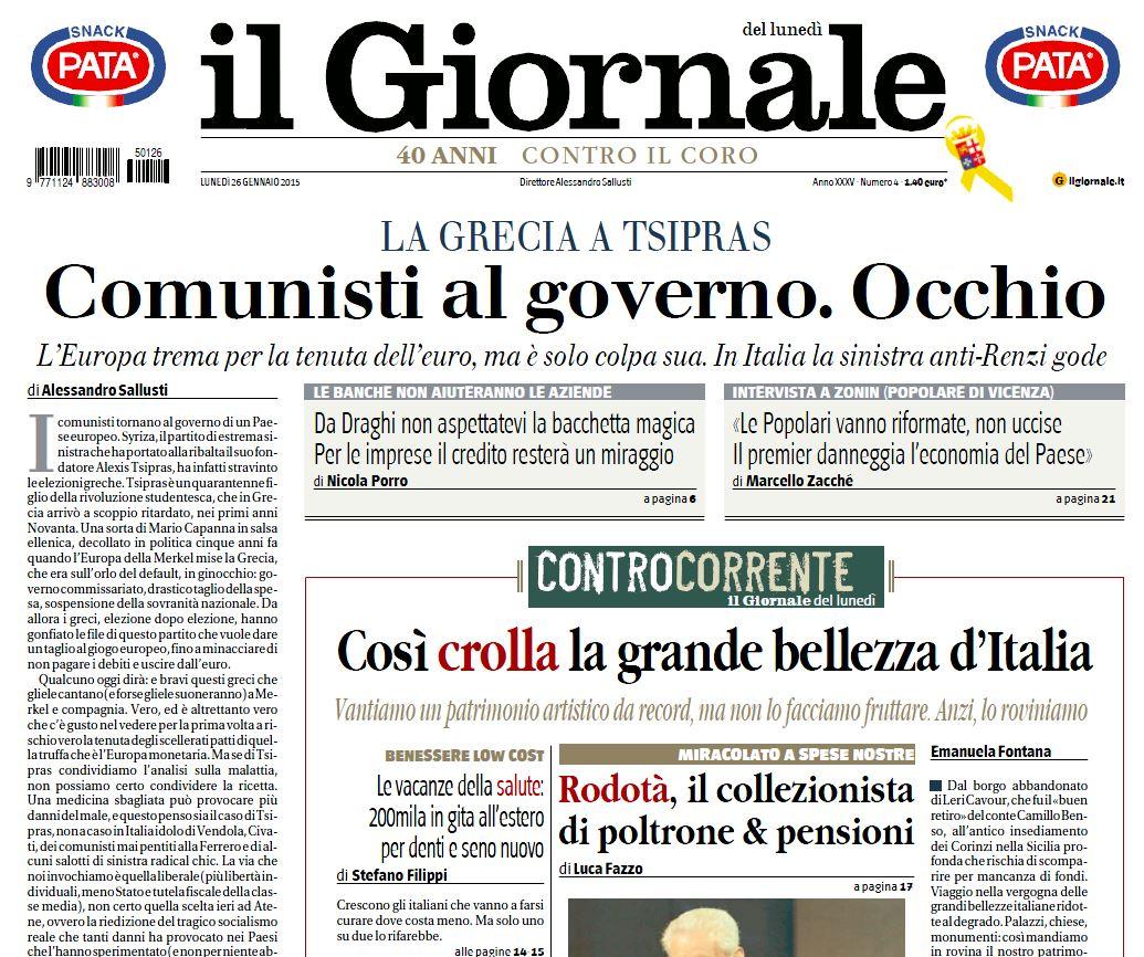 giornale comunisti al governo