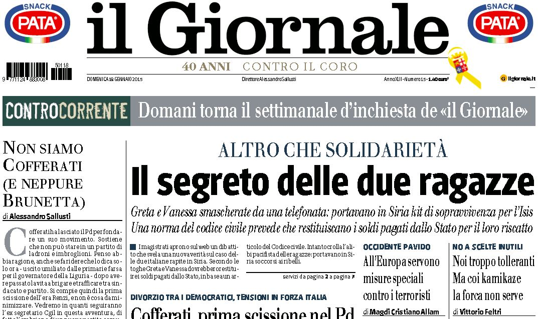 giornale isis