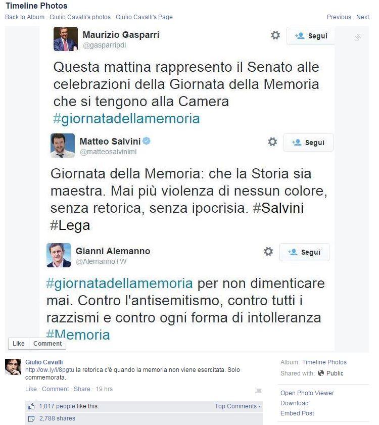 La giornata dell'ufficio stampa (fonte Facebook.com via Giulio Cavalli)