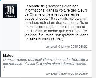 """Non solo carte d'identità anche 10 bottiglie molotov, una bandiera """"jihadista"""" e un passamontagna (fonte: Lemonde.fr)"""