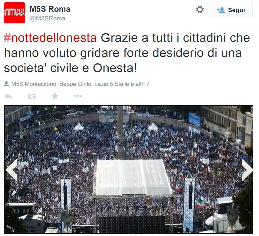 m5s roma foto sbagliata