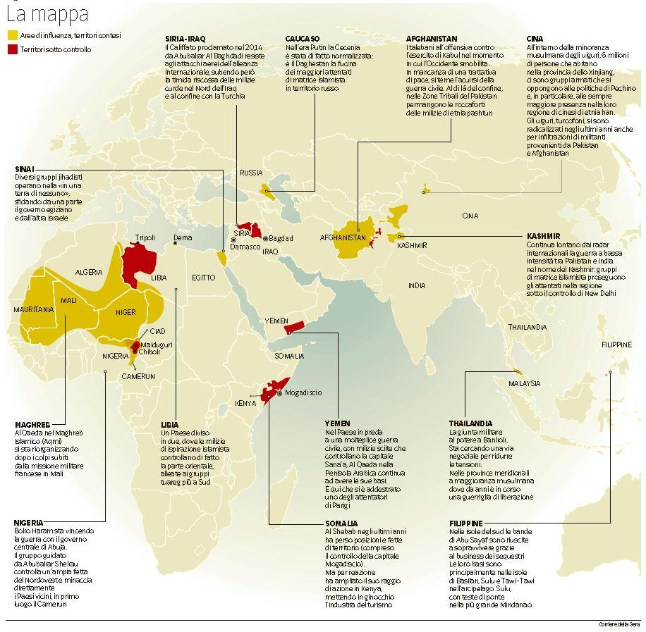 mappa fondamentalismo islamico