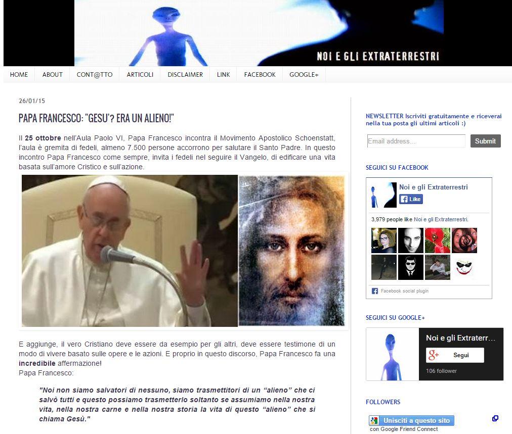 papa francesco e gesu alieno 1