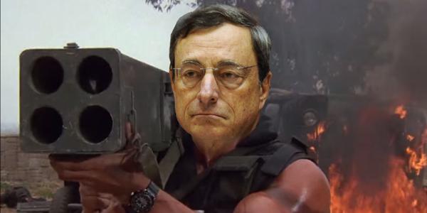 Quantitative Easing e Mario Draghi: vignetta (fonte)