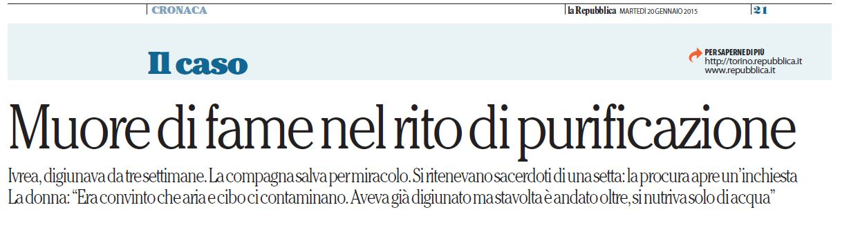 Da La Repubblica 20 gennaio 2015