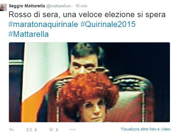 sergio mattarella twitter fake