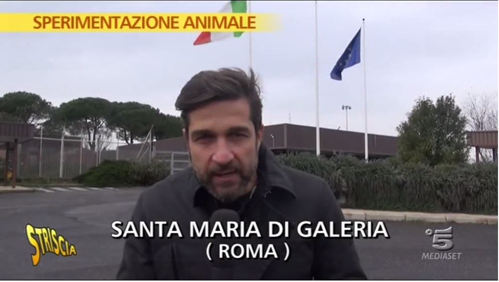 Edoardo Stoppa per la sperimentazione animale (fonte: video.mediaset.it)