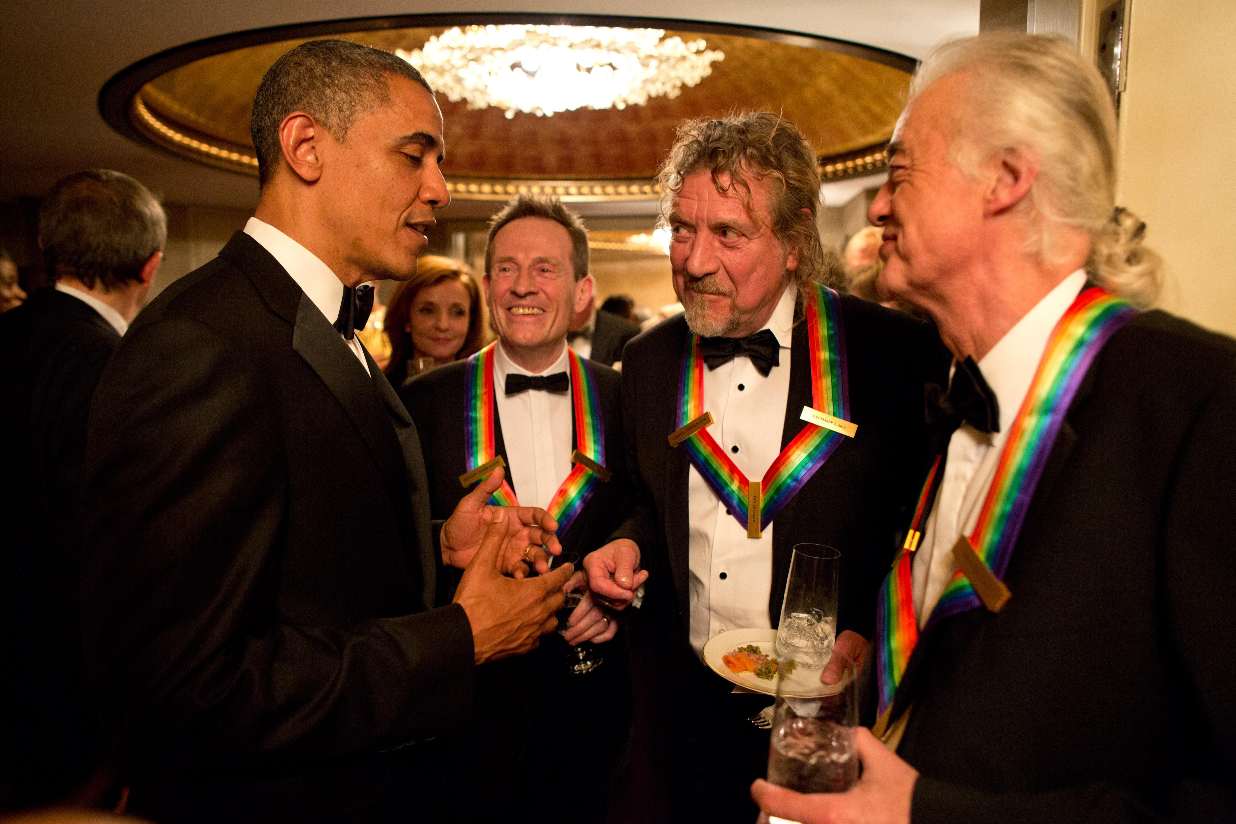 I tre Led Zeppelin superstiti con Barack Obama nel 2012 (fonte: Wikipedia.org)