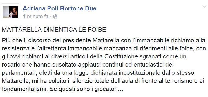 MATTARELLA FOIBE