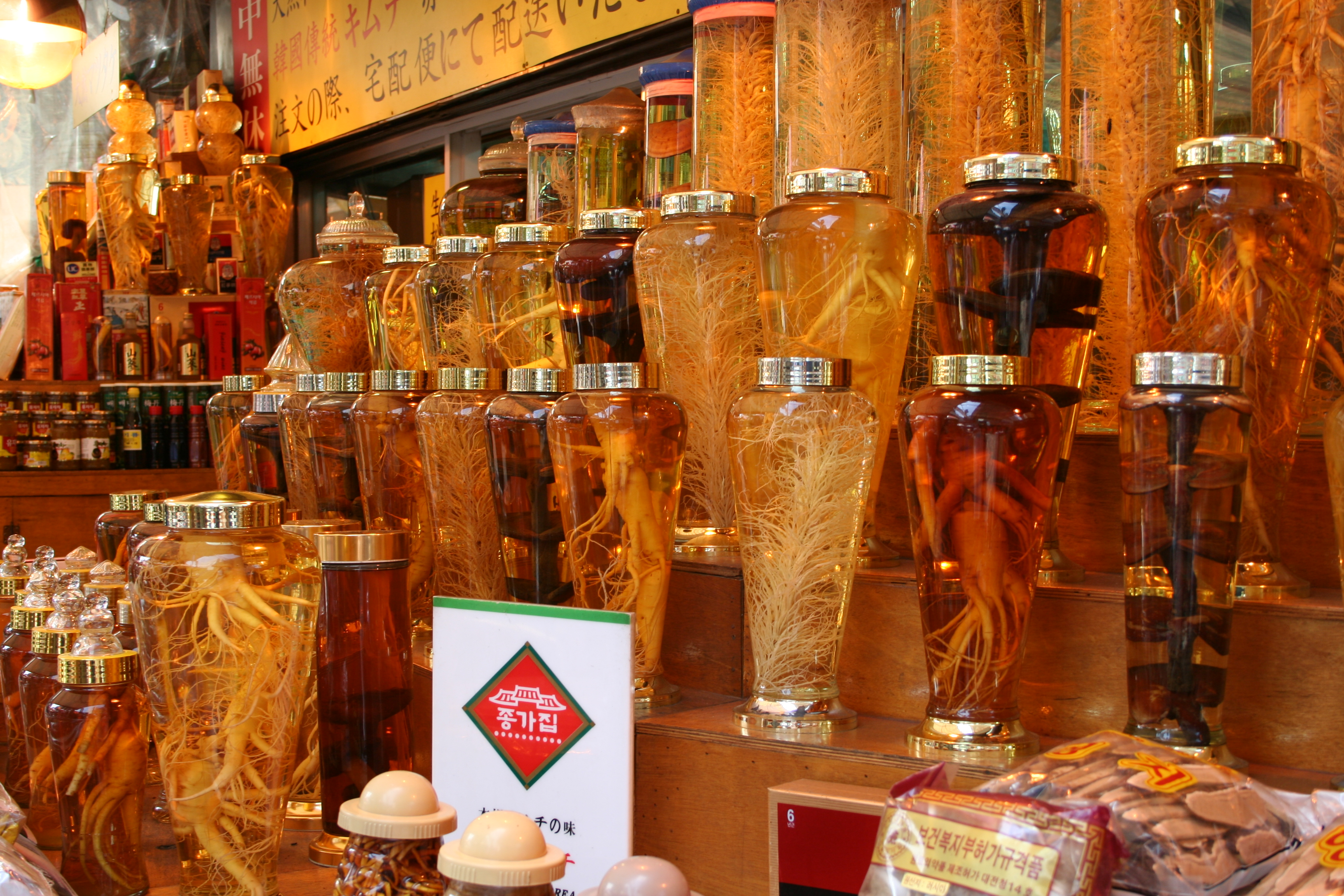Radici di Ginseng al mercato di Seoul (fonte: Wikipedia.org)