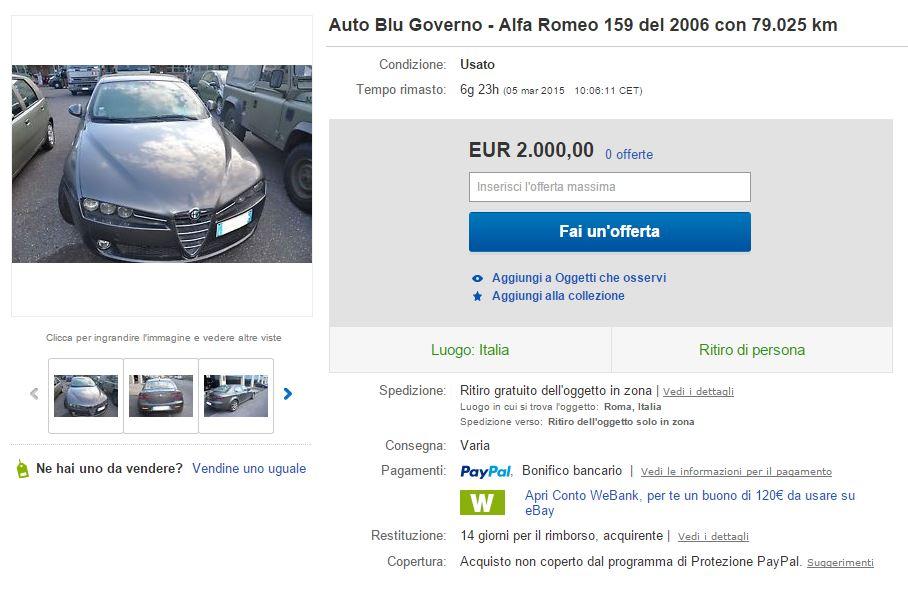 auto blu governo ebay 2