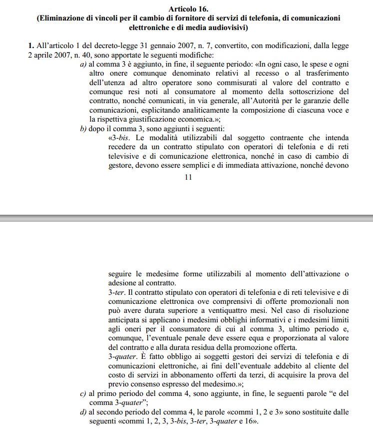 Il testo del ddl sulla concorrenza 2015 (fonte: governo.it)