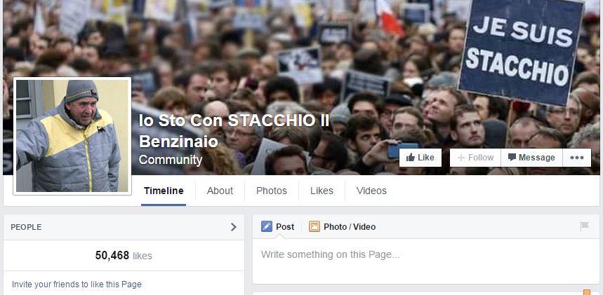 "Oltre cinquantamila ""mi piace"" per Stacchio su Facebook"