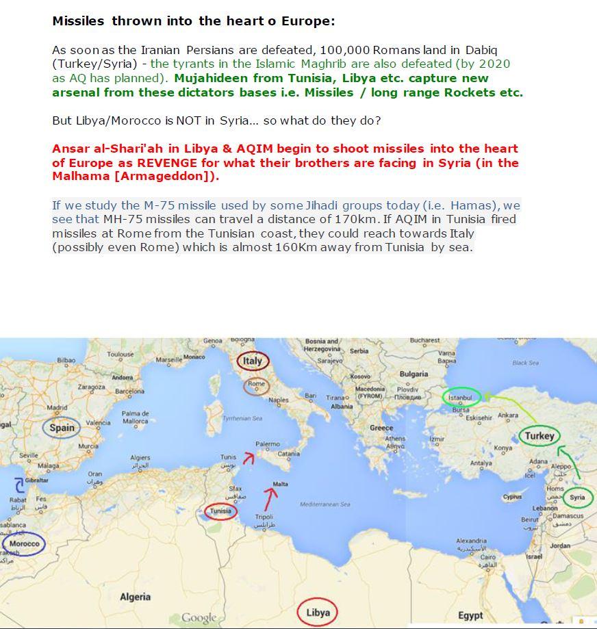 La cartina con la strategia  per conquistare l'Europa