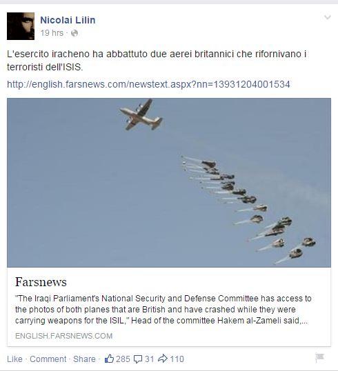 lilin aereo abbattuto