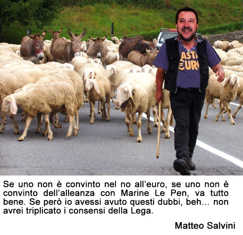 matteo salvini no all'euro