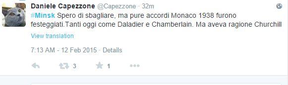 Il gatto di Capezzone ha twittato che siamo come a Monaco nel 1938