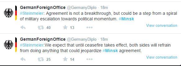 minsk ministero degli esteri tedesco