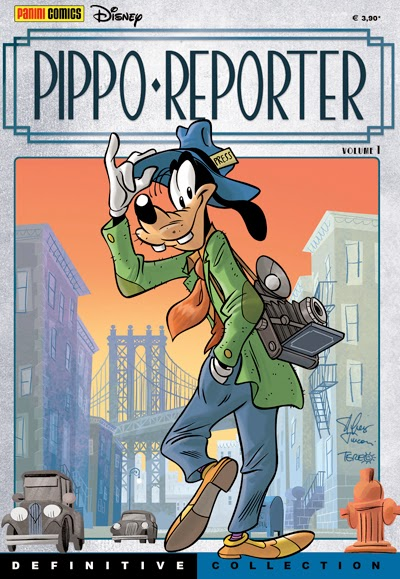 La copertina del primo volume della Definitive Collection di Pippo Reporter (via http://universofumetto.blogspot.it/)