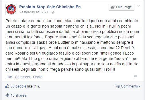 LOL il numero di Marcianò nei siti gay? Ma come sono ridotti (Facebook.com)