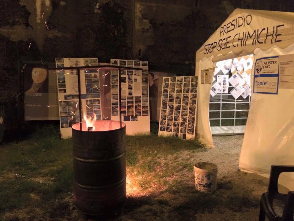 Una suggestiva foto della sede del Presidio di attivisti rivoluzionari contro le scie chimiche (fonte: Facebook.com)