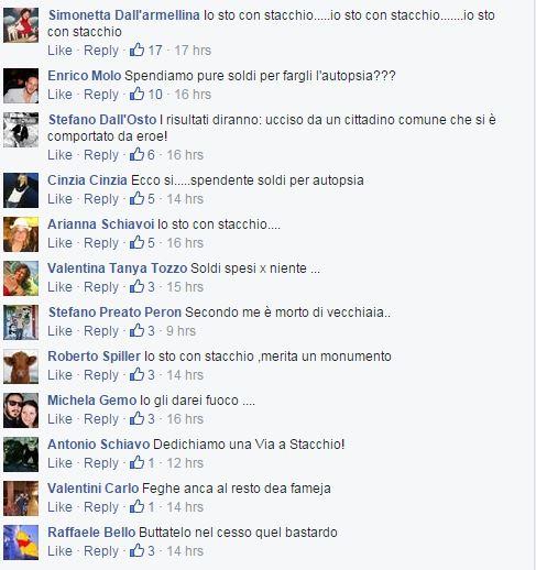 stacchio commenti facebook  giornale vicenza - 2