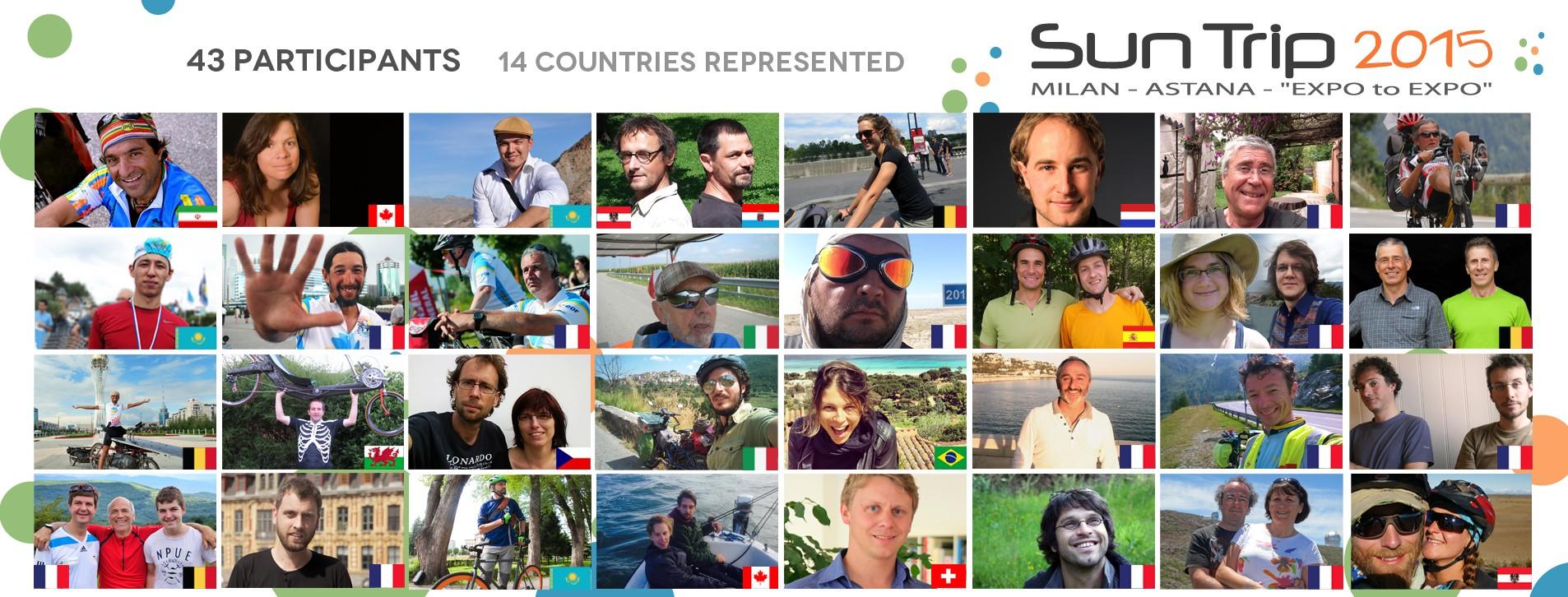 I 43 avventurieri che prenderanno parte alla seconda edizione di The Sun Trip (fonte: thesuntrip.com)