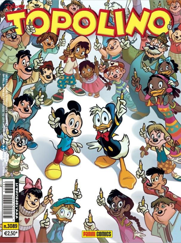 La cover del numero 3089 di Topolino diffusa nei giorni scorsi. (fonte: papersera.net)