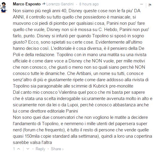 topolino disney policy