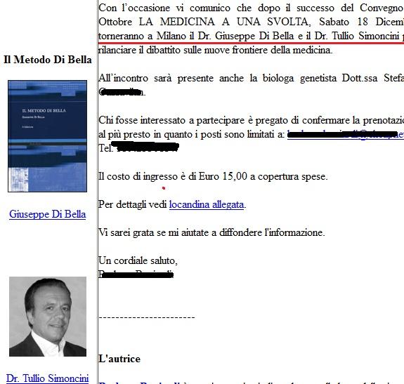 Giuseppe Di Bella e  Tullio  Simoncini: le nuove frontiere della scienza (via Medbunker.blogspot.it)