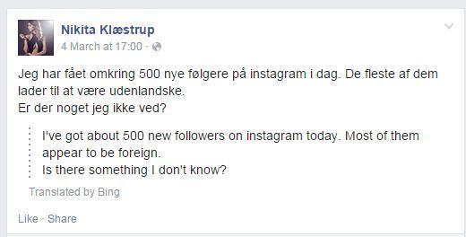 Nikita Klæstrup - facebook