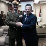 Gianluca Buonanno aka Davide con il generale Khalifa Haftar (fonte: Facebook.com)